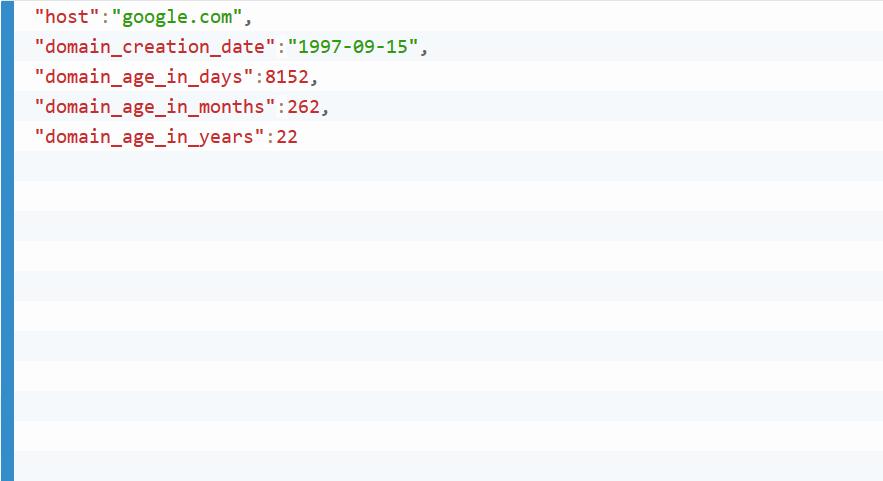 Domain Age API